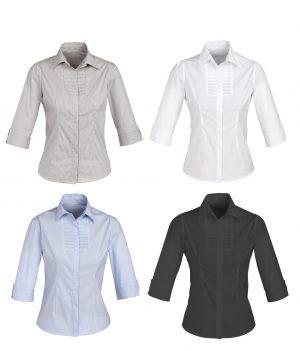 S121LT Ladies Berlin 3/4 Sleeve Shirt