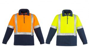 Hi Vis Fleece Jumper - Shoulder Taped