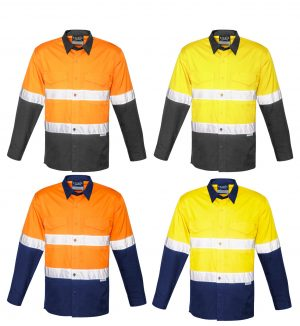 Hi Vis Spliced Rugged Shirt - Hoop Taped