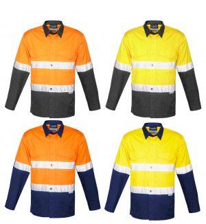 Hi Vis Spliced Rugged Shirt - Hoop Taped
