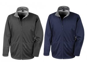 Mens Soft Shell/Grey Fleece Lining Jacket