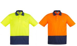 HI VIS BASIC SPLICED POLO SHORT SLEEVE