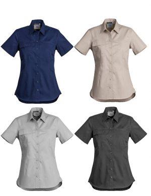Womens Lightweight Tradie Shirt Short Sleeve