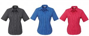S10422 Ladies Cuban Short Sleeve Shirt
