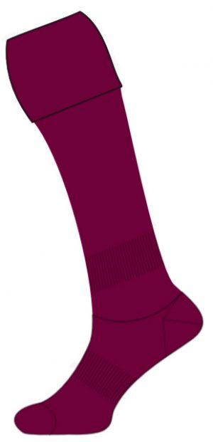 maroon rugby socks