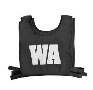 Elastic Netball Bib Set-Black/White