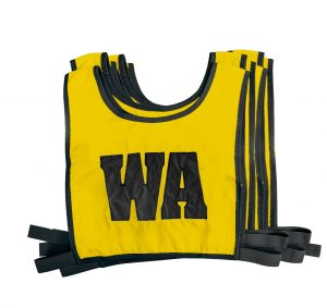 Elastic Netball Bib Set-Gold/White