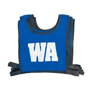 Elastic Netball Bib Set-Royal/White