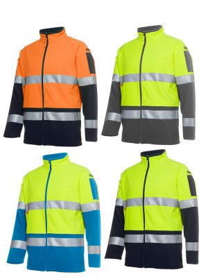 HI VIS (D+N) SOFTSHELL JACKET